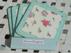 """Forever England"" Coasters (Set of 4) - Melissa Rose"