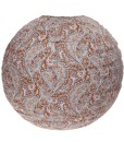 Paisley Fabric Lightshade - Brown & Light Blue