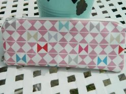 Geometric Pencil Case - Pink