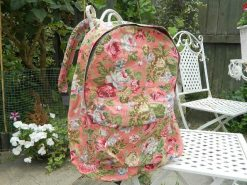 Vintage Floral Backpack - Dusty Pink
