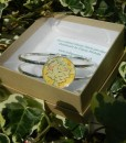 Handmade Liberty Bangle - Yellow & Green