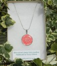 Handmade Liberty Pendant Necklace - Peach/Coral