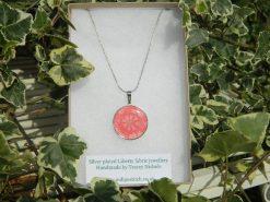 Handmade Liberty Pendant Necklace - Peach/Coral