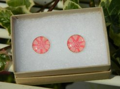 Handmade Liberty Earrings - Peach/Coral