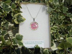 Handmade Liberty Pendant Necklace - Pink