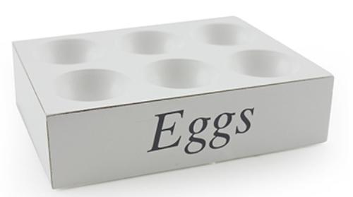 White shabby chic egg holder